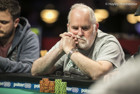 'Captain' Tom Franklin pictured during the $600 PLO Deepstack event