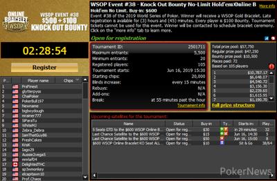 Event #38: $600 WSOP.com ONLINE No-Limit Hold'em Knockout Bounty