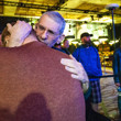 Adam Friedman gets hug from dad, Marc