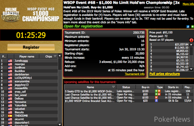 The latest WSOP Online event is about to begin