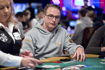 Benjamin Rolle is among the big stacks for the final day