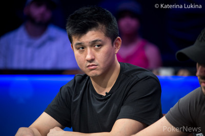"Ka Kwan Lau sits second in chips behind ""Naktro91"""