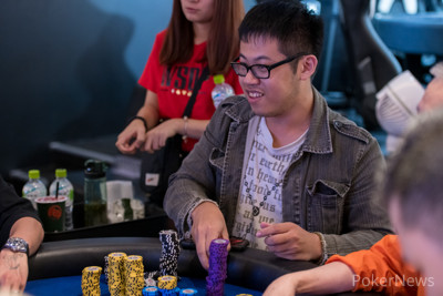 Day 1B chip leader Chi Hang will be returning for Day 2 at the top of the counts