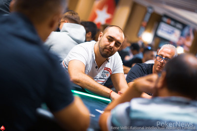 Ognyan Dimov, Second in Chips on Day 1