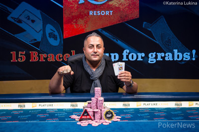 Siamak Tooran Wins Event #6: €25,500 Short Deck High Roller