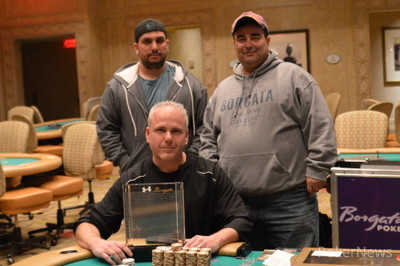 Ken Barkoff (seated) with Joey Couden & Nicola Alessio