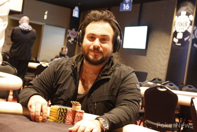 Gary Hasson second in chips after Day 1