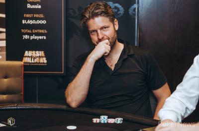 Jorryt van Hoof during the 2020 Aussie Millions