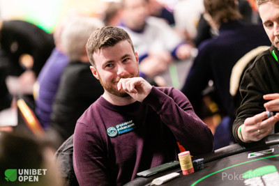 Jamie Nixon, 2nd in chips going to Day 3