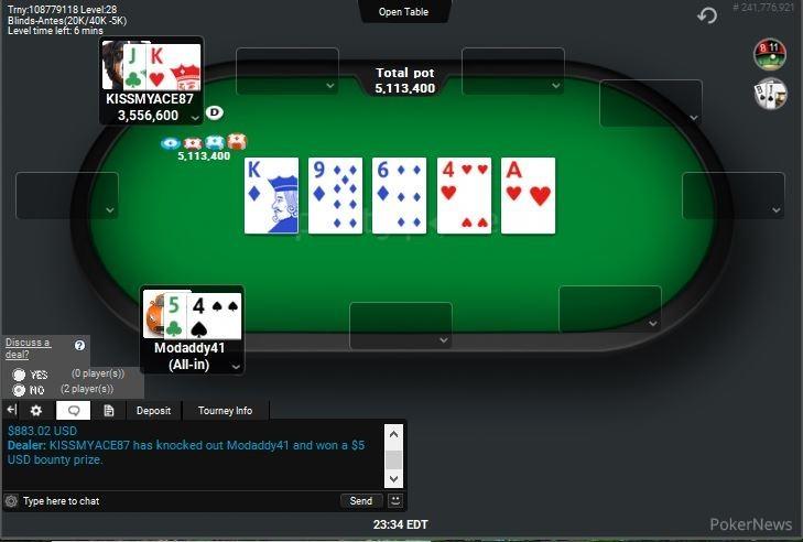 """Event 5 Final hand Modaddy41"""