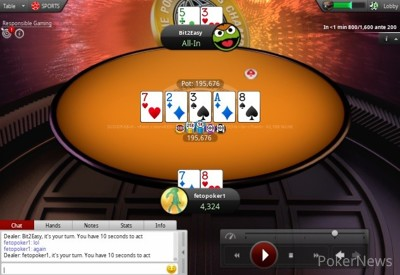 """Reeves Falls to """"fetopoker1"""""""