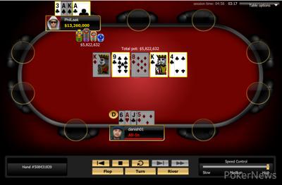 The winning hand for Dunlap