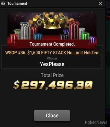 """Michael """"YesPlease"""" Clacher Wins Event #36: $1,500 FIFTY STACK"""