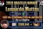 """Leonardo """"Babaehduro"""" Mattos Wins First Bracelet and $399,047 in Event #59: $2,500 NLHE"""
