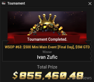 "Ivan ""zufo16"" Zufic Wins Event #63"