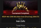 """Ivan """"zufo16"""" Zufic Wins $843,460 & First Bracelet in Event #63: $500 Mini Main Event"""