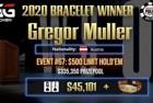 """Gregor """"soulsntfaces"""" Muller Wins First Bracelet in Event #67: $500 Limit Hold'em for $45,102"""