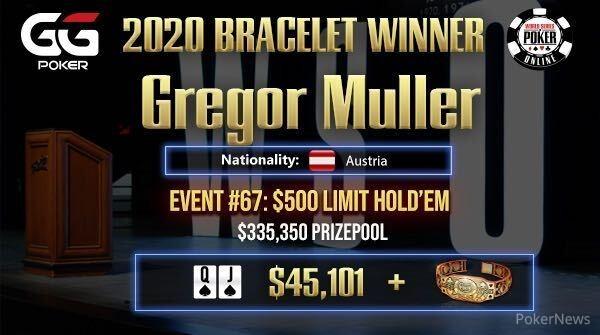 Gregor Muller Wins Event #67