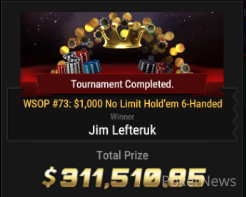 "Jim 'grousegrind"" Lefteruk Wins Event #73"
