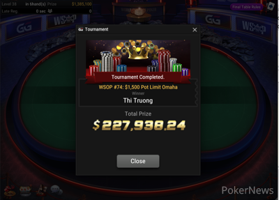 Thi Truong wins Event #74