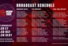 2020 WCOOP Broadcast Schedule