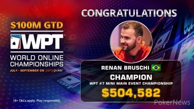 Renan Bruschi Wins WPT WOC Mini Main Event