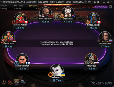 HRW 18: $10,300 Super MILLION$ Final Table