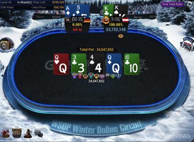 Final Hand of WSOPC #12