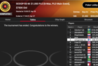 "Joel ""Odonkor1"" Nordkvist Wins SCOOP-93-M: $1,050 PLO [6-Max, PLO Main Event], $750K Gtd ($153,356)"