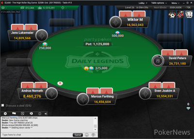 The High Roller Big Game Final Table May 2
