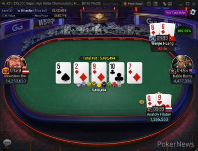 Huang doubles through Filatov
