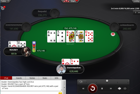 ROU$EY earns a double through the chip leader