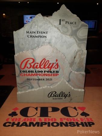 Bally's Black Hawk Colorado Poker Championship Main Event Trophy