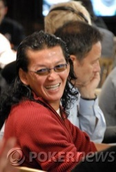 Scotty Nguyen, pictured playing Omaha no less enthusiastically