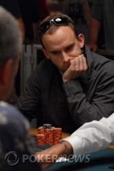 Day 2 chip leader Aaron Coulthard