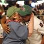Lona Rubenstein hugs Victor Ramdin