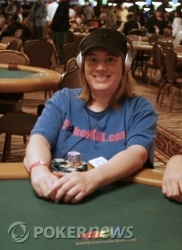 Kathy Liebert, going for her second final table this year