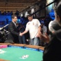 Jeffrey Pollack presents Mike with his third WSOP bracelet