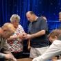Dan Lacourse and family inspect the new treasure