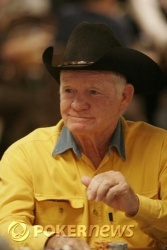 Gene Fisher in his signature hat
