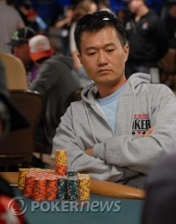 Chip leader Mark Ketteringham