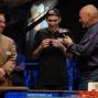 Martin Klaser admires his first WSOP braceelt