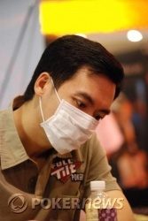 John Juanda wearing a face mask today, we assume due to the smokers on the rail