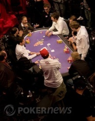 Bird's eye view of last night's unofficial final table