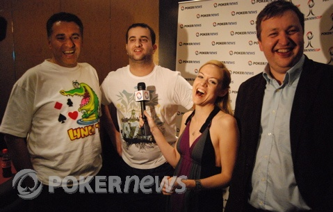 Gloria interviews the H.O.R.S.E. co-winners, Billy 'The Croc,' Van Marcus and Tony G