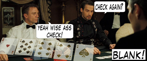 James Bond Casino Royale Poker Comic 108