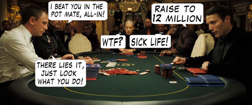 James Bond Casino Royale Poker Comic 111