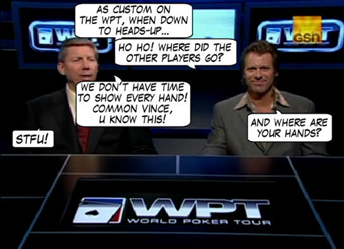 World Poker Tour Comic - De Mike & Vince Show! 117