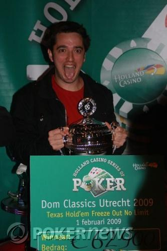 Thijs Wessels wint €105.875,- bij Dom Classics Main Event 102