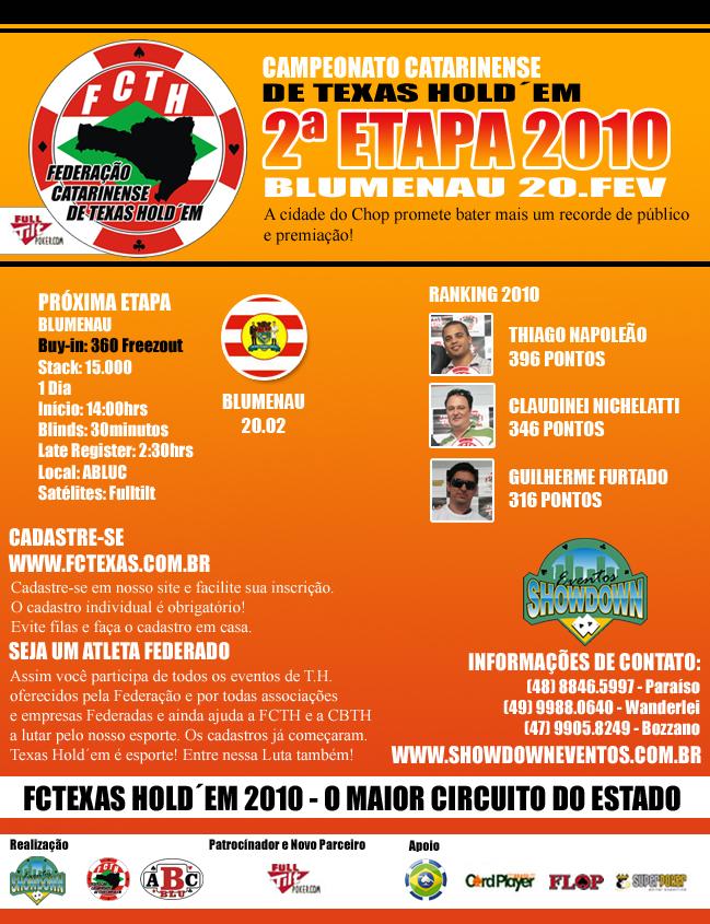 Circuito Catarinense de Texas Hold'em: Blumenau sediará a segunda etapa 101